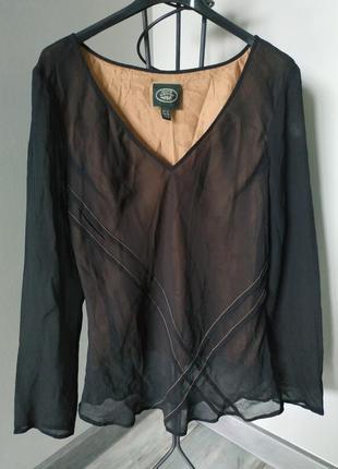 Шелковая блузка laura ashley.