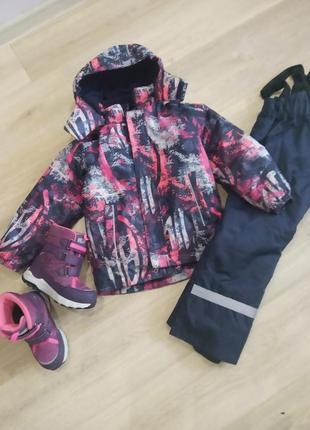 Комплект зимний , куртка и комбинезон lassie by reima