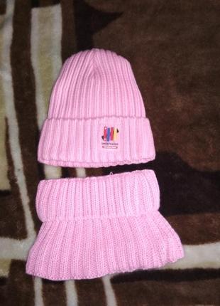 Наборчик шапка и манижка теплые