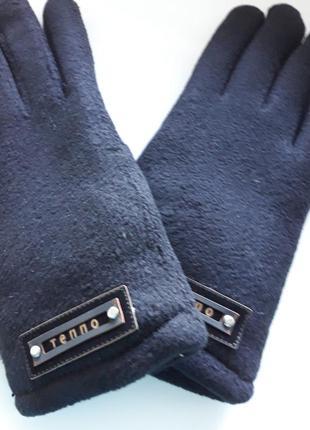 Перчатки подростковые флисовые,с манжетом,на меху.