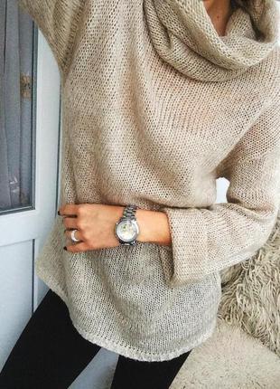 Теплый свитер шерсть мохер кофта
