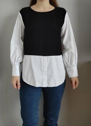 Кофта-рубашка zara basic