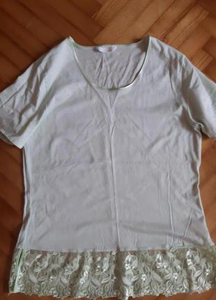 Базовая футболка для отдыха, сна от швейцарского премиум бренда hanro of switzerland! p.-m