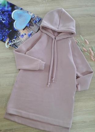 Платье- худи женское молодежное , утепленное