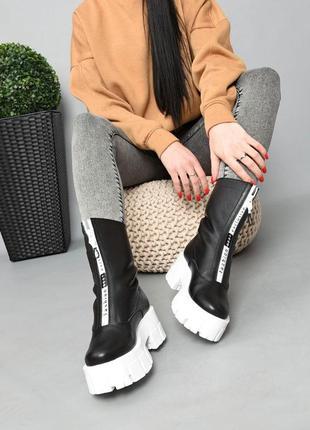 Ботинки кожа чёрный 36-415 фото