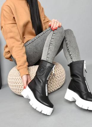 Ботинки кожа чёрный 36-41