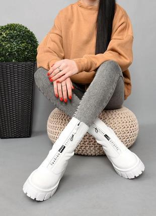 Ботинки кожа белый 36-414 фото