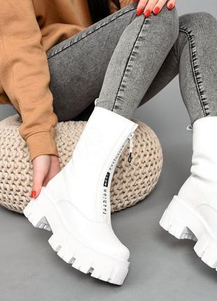 Ботинки кожа белый 36-41