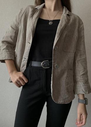 Шикарний 100% лляний піджак new look