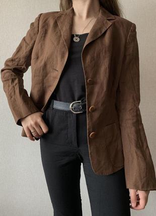 Базвовий 100% лляний піджак