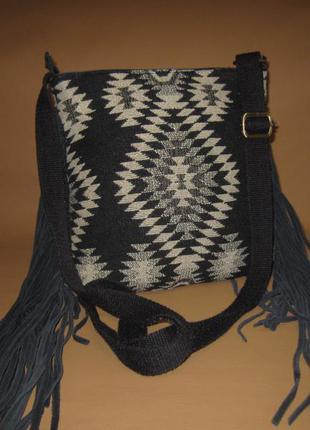 Чудесная кожаная сумка английского бренда florence&fred