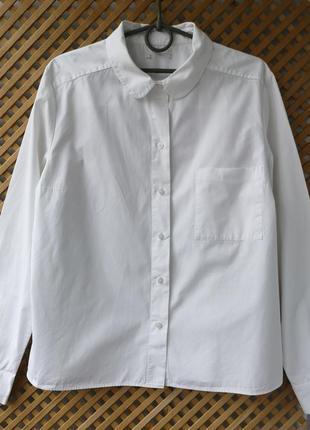 Плотная качественная белоснежная рубашка