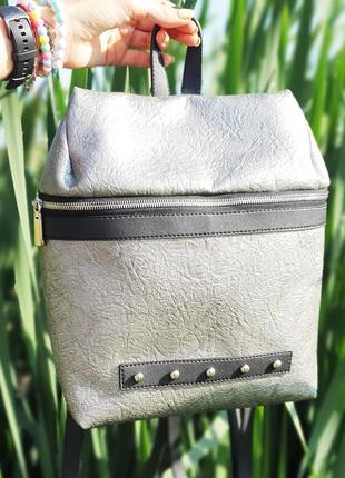 Никель рюкзак повседневный металический декор