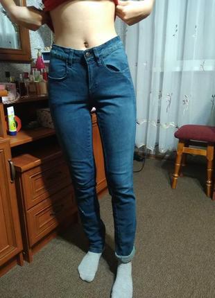 Джинсовые штаны средняя посадка