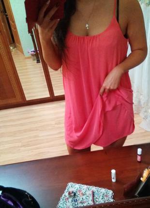 Новое брендовое двойное платье красивая спинка, размер 14-16