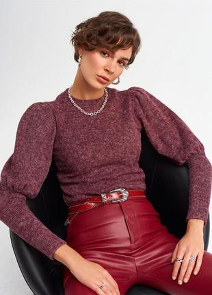 Бордовий светр, свитер марсала