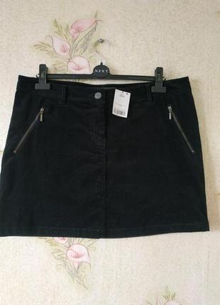 Новая женская юбка # чёрная юбка # вельветовая юбка # next