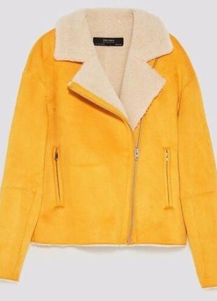 Куртка косуха на овчине zara