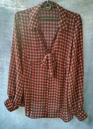 Стильная блузка essence / шифоновая блуза с принтом