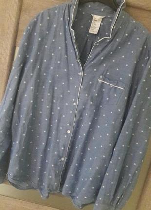 Рубашка джинсовая в звезды