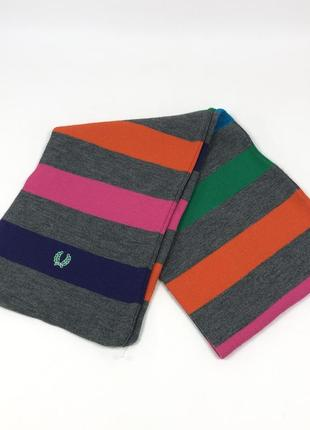 Винтажный шарф-шаль в полоску fred perry платок - хамут