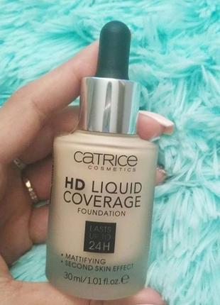 Тональна основа catrice hd liquid coverage