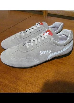 Кожаные кроссовки swiss швейцария