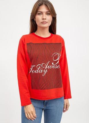 Жіночий свитшот червоний