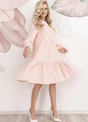 Платье-трапеция с воланами