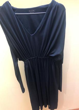Чёрное платье massimo dutti