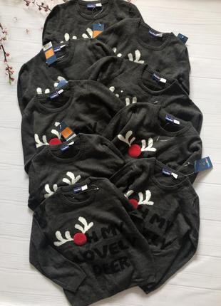 Новогодняя кофта свитер реглан мальчику lupilu 86-92 98-104 110-116