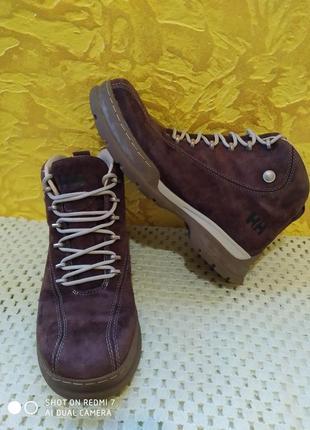 Замшевые ботинки helly hansen gore-tex