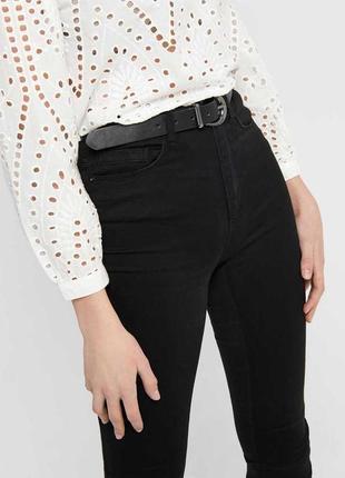 Джинси скіни висока посадка джинсы высокая талия only