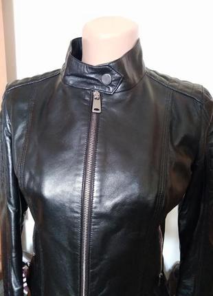 Куртка женская косуха кожа натуральная черная