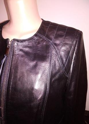 Куртка женская кожанная натуральная черная