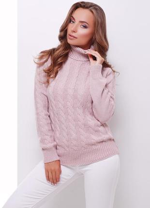 Новый тёплый свитер под горло