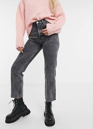 Укороченные джинсы мом wrangel цвет графит