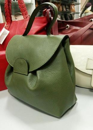 Кожаная сумка рюкзак из кожи сумочка на динном ремне