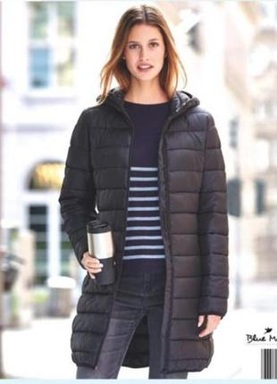Удлиненная демисезонная куртка пальто blue motion