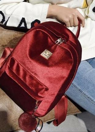 Рюкзак и велюра