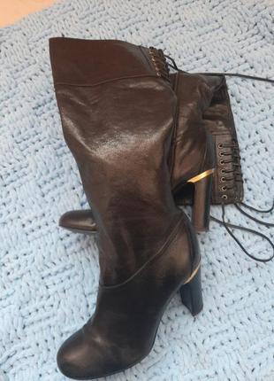 Женские кожаные сапоги  guess оригинал 🔥🔥🔥