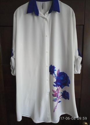 Летнее платье -рубашкп р. xxl, m, l, s, x, l