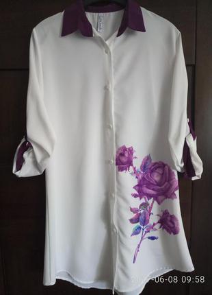 Летнее платье -рубашка р. s, m, l