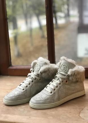 Gucci кроссовки женские ботинки зимовые