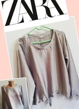 Шолковый свитшот zara. жемчужная блуза.