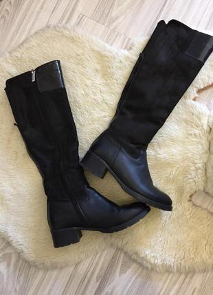 Кожаные замшевые ботинки