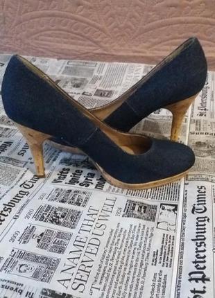 Стильні туфлі джинс бренд tamaris стелька 24.5см