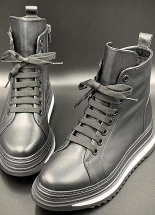 Женские кроссовки кожаные, весна-осень - турция, модель 2020 года
