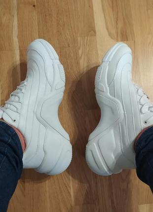 Кожаные демисезонные кроссовки mark nason. 27см.