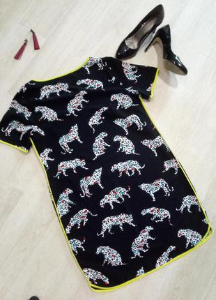 Платье рубашка леопардовое